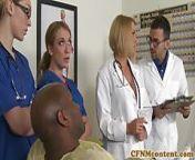CFNM nurses cocksuck black dick in hospital from telugu hospital sex
